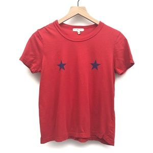 UO Truly Madly Deeply Red Star Tee Shirt - Size S